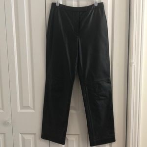 The loft size 8 100% genuine leather pants- lined